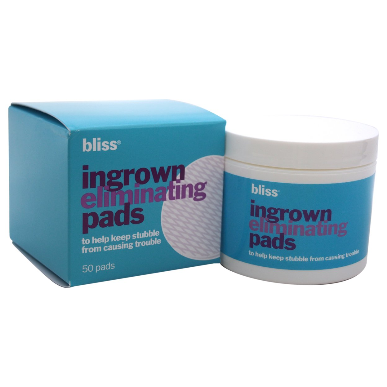 Ingrown Eliminating Pads by Bliss for Unisex - 50 Pc Pads 56d0b866a3771c59288b8463