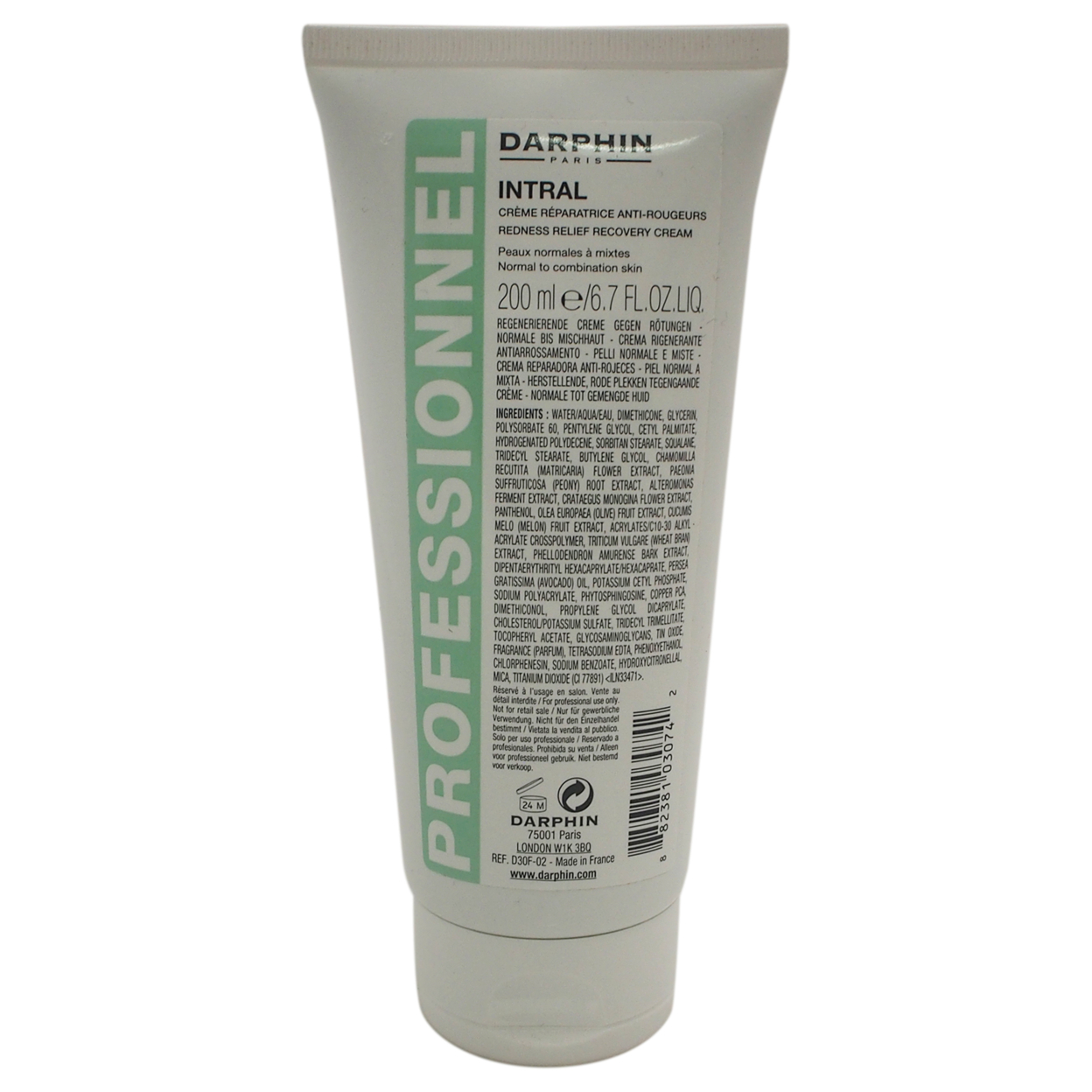 Intral Redness Relief Recovery Cream By Darphin For Women 6.7 Oz Cream