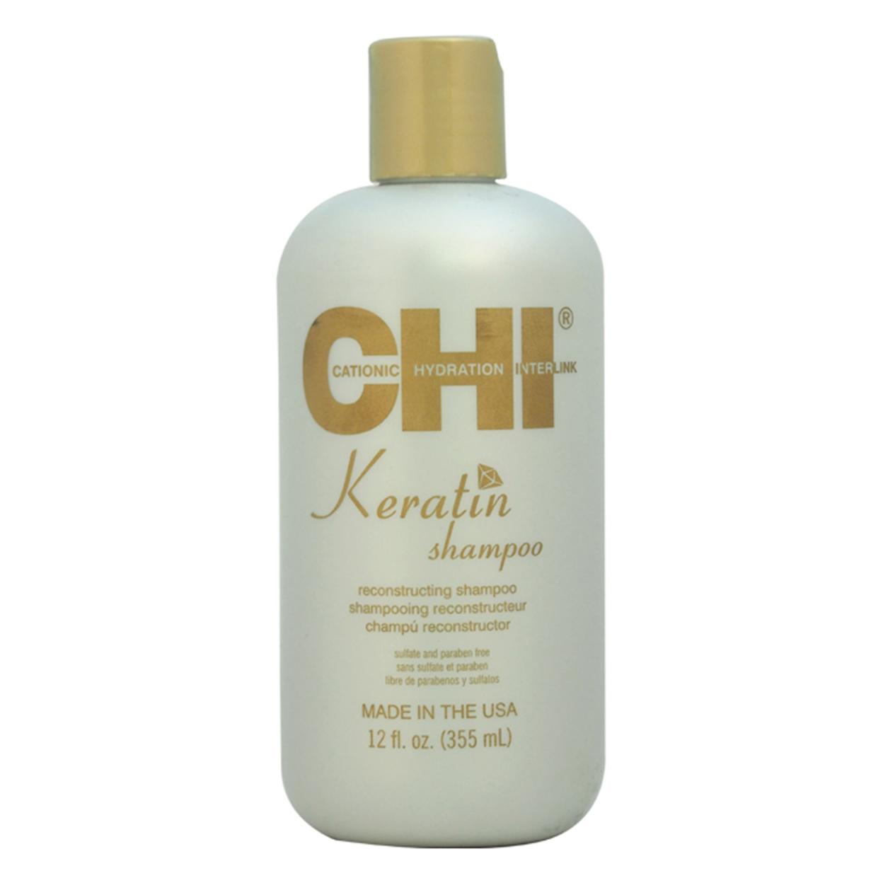 Keratin Reconstructing Shampoo by CHI for Unisex - 12 oz Shampoo 58653c46e2246122db0f2074