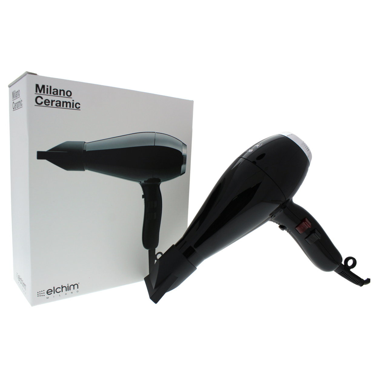 Milano Ceramic Hair Dryer - Black/Silver by Elchim for Unisex - 1 Pc Hair Dryer 598dcf9b2a00e418967fdb4a