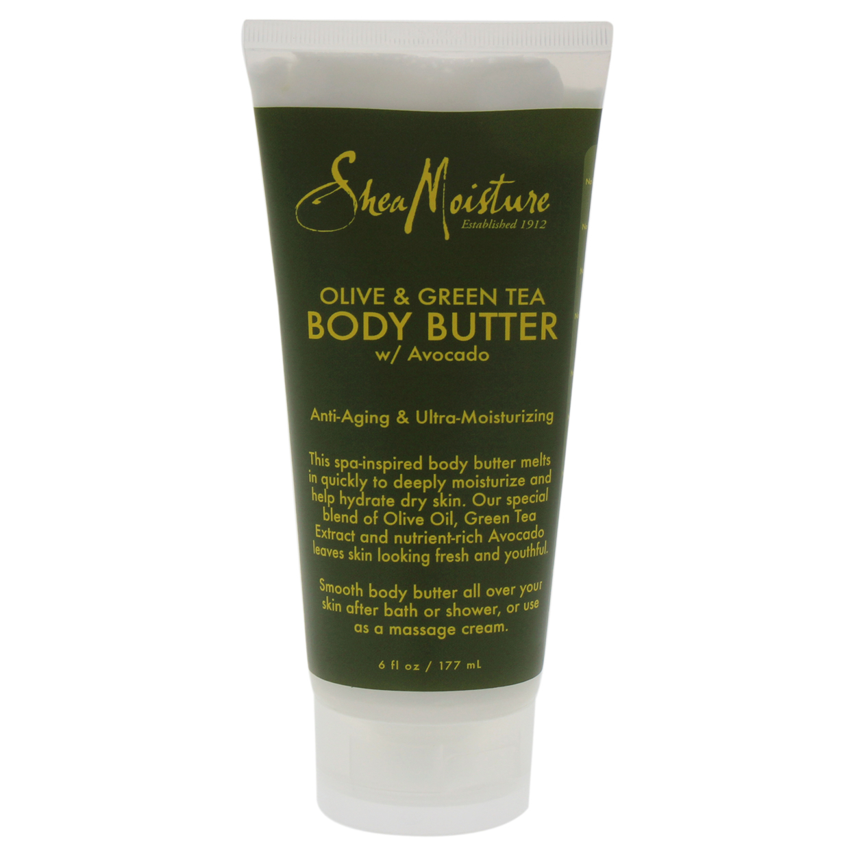 Olive & Green Tea Body Butter Anti-aging & Ultra-moisturzing By Shea Moisture For Unisex 6 Oz Cream