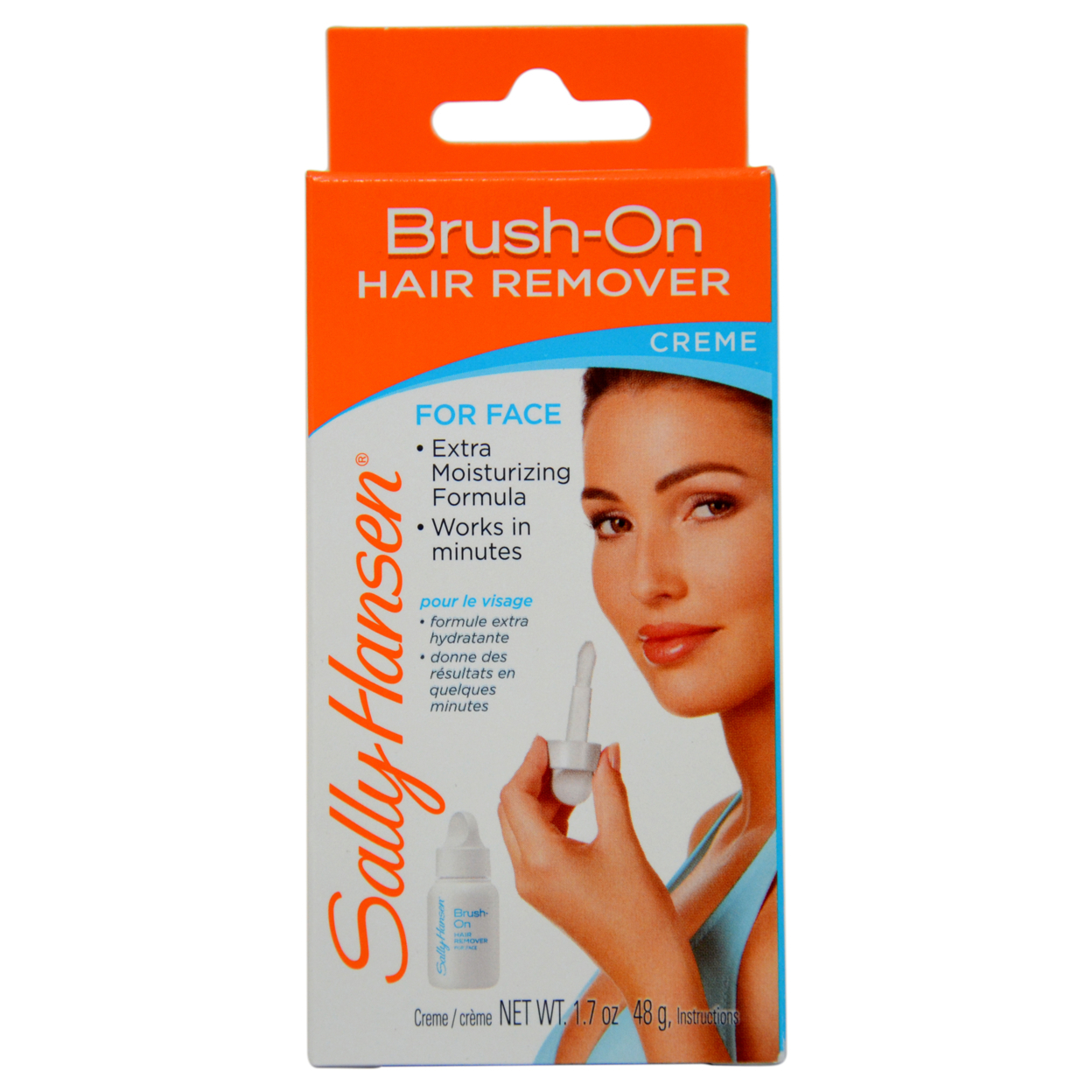 Pain Free Brush On Hair Remover Creme For Face Extra Moisturizing by Sally Hansen for Women - 1 Pack Hair remover 5898e1d0c98fc4508f3b701e