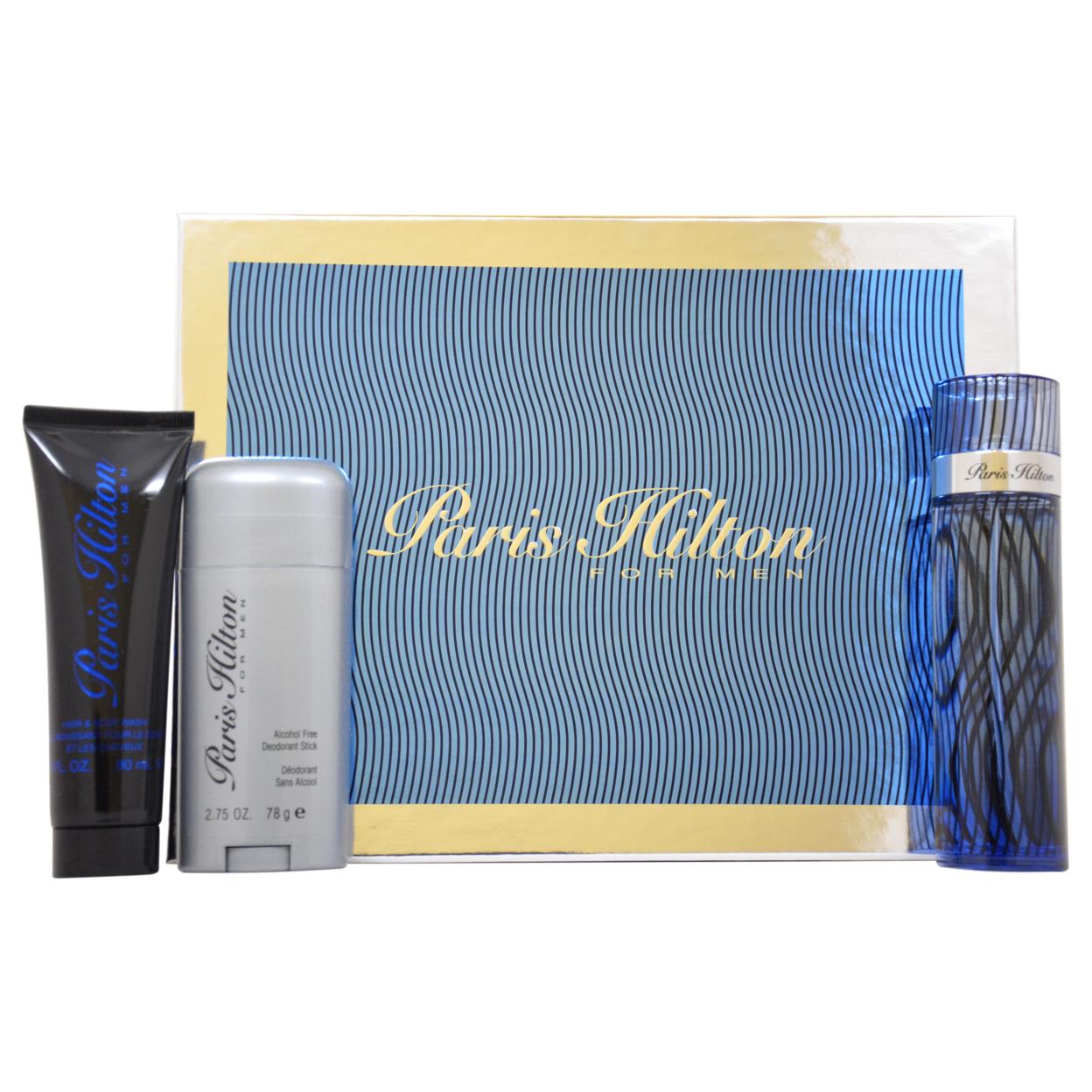 Paris Hilton by Paris Hilton for Men - 3 Pc Gift Set 3.4oz EDT Spray, 3oz Hair & Body Wash, 2.75oz Deodorant Stick 593bc5c62a00e432697a7e2f