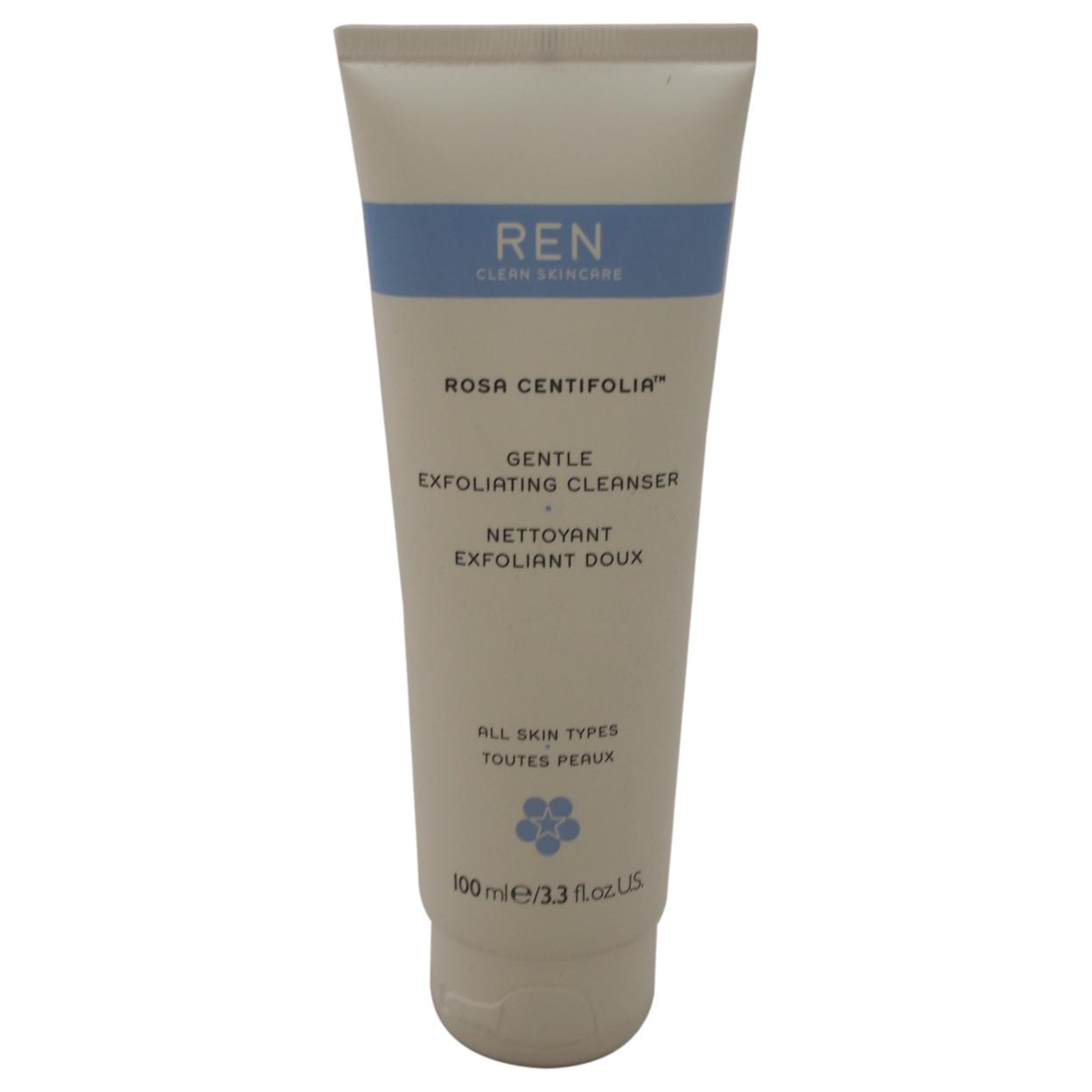 Rosa Centifolia Gentle Exfoliating Cleanser by REN for Unisex - 3.3 oz Cleanser 58653c96e2246122df59637c