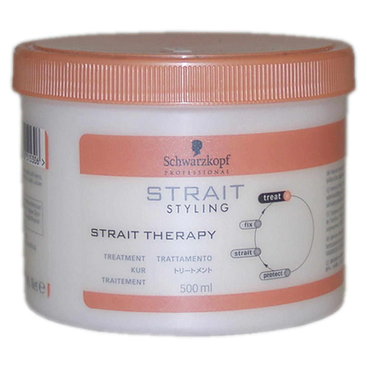 Strait Styling Strait Therapy Treatment By Schwarzkopf For Unisex 16.9 Oz Treatment