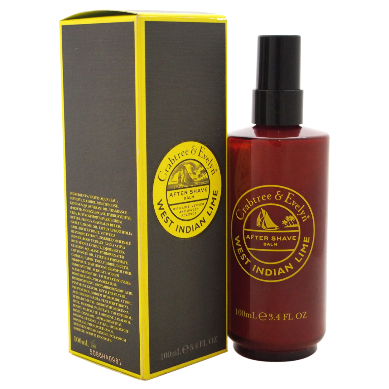 West Indian Lime After Shave Balm by Crabtree & Evelyn for Men - 3.4 oz After Shave Balm 5898e1a8c98fc450900eca5d
