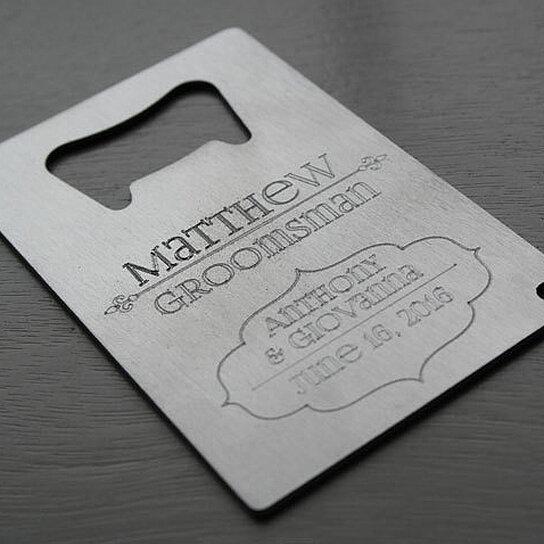 buy groomsman elegant wallet card bottle opener engraved personalized by kennebug boutique on. Black Bedroom Furniture Sets. Home Design Ideas