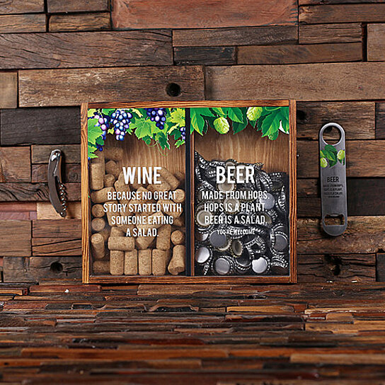 Buy Beer Cap Holder Personalized Shadow Box FREE Bottle