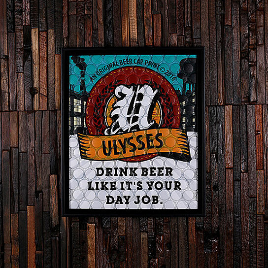 Man Cave Beer Signs : Buy beercap prints™ beer cap art personalized gifts man