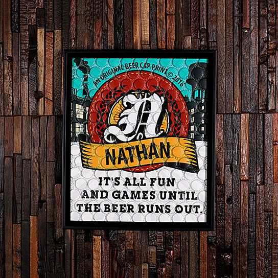 Cheap Personalized Man Cave Signs : Buy beercap prints™ beer cap art personalized gifts man