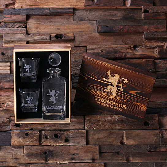 Man Cave Items Wholesale : Buy personalized engraved etched scotch whiskey decanter