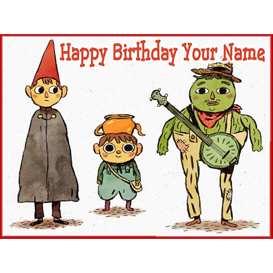 Buy Over The Garden Wall 2a Edible Photo Cake Topper Free Personalization By Personalize