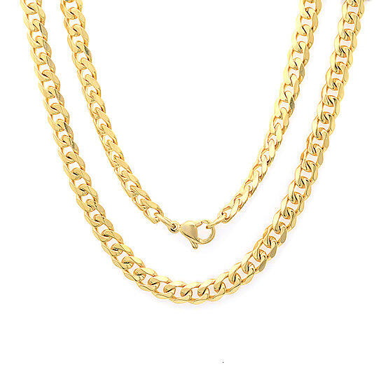 buy s 18k gold plated cuban chain necklace by piatella