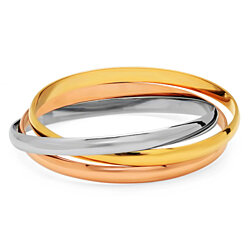 Set of 3 18k Gold Plated Intertwined Bangles
