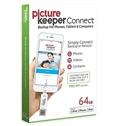 iPhone Backup & Storage Device - Picture Keeper Connect - Free App Included!