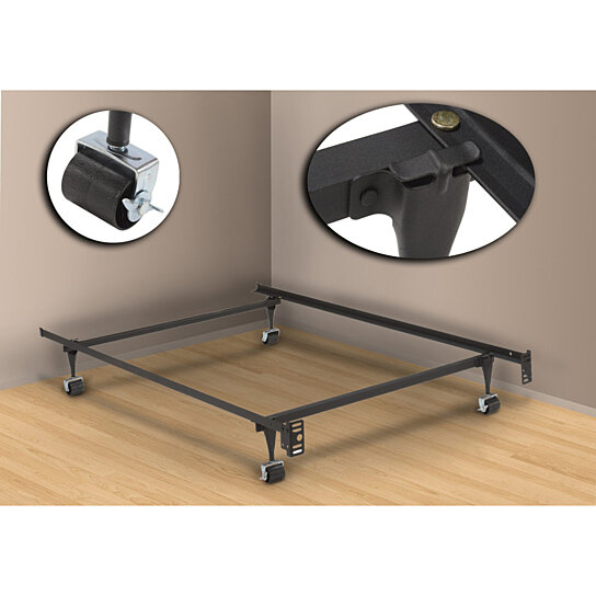 Buy Pilaster Designs Heavy Duty Metal Twin Size Bed Frame With Rug Rollers Locking Wheels