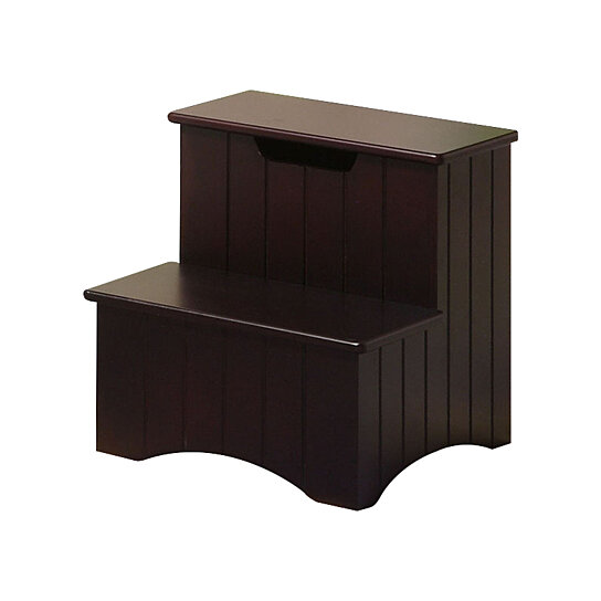 Buy Pilaster Designs   Merlot / Brown Finish Wood Bedroom Step Stool With  Storage By Pilaster Designs On Dot U0026 Bo