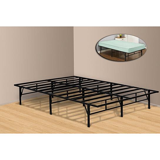 buy pilaster designs platform bed frame mattress foundation no box spring needed queen by. Black Bedroom Furniture Sets. Home Design Ideas