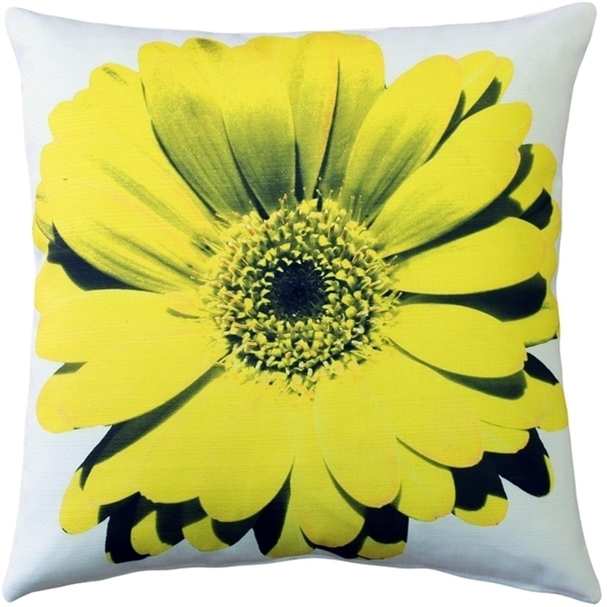 Pillow Decor - Bold Daisy Flower Yellow Throw Pillow 20X20 56578f5ba3771c8f498bccf3