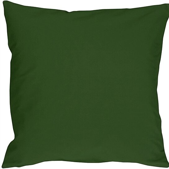 Buy Pillow Decor - Caravan Cotton Forest Green 16x16 Throw Pillow by Pillow Decor on Dot & Bo