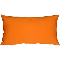 Pillow Decor - Caravan Cotton Orange 9x18 Throw Pillow