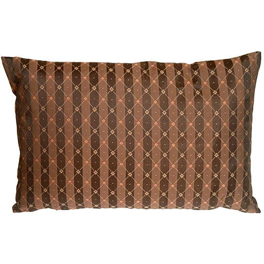 Buy Pillow Decor - Manhattan Stripes in Brown and Black Rectangular Throw Pillow by Pillow Decor ...
