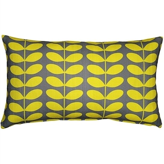Buy Pillow Decor Mid Century Modern Yellow Throw Pillow 12x20 By