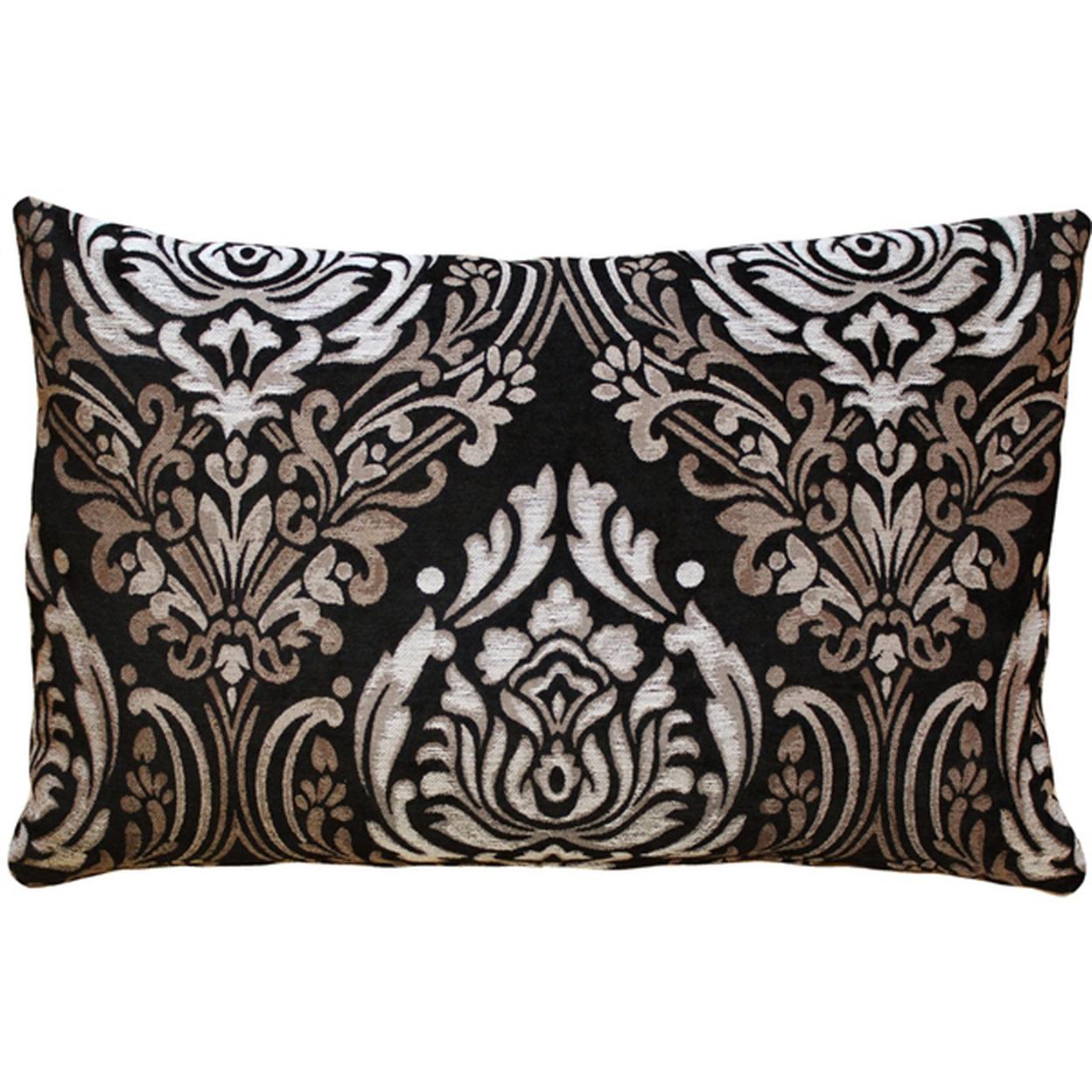 Pillow Decor - Palazzo Black 16x24 Throw Pillow 55b6d09da2771c5c5d8b48fe