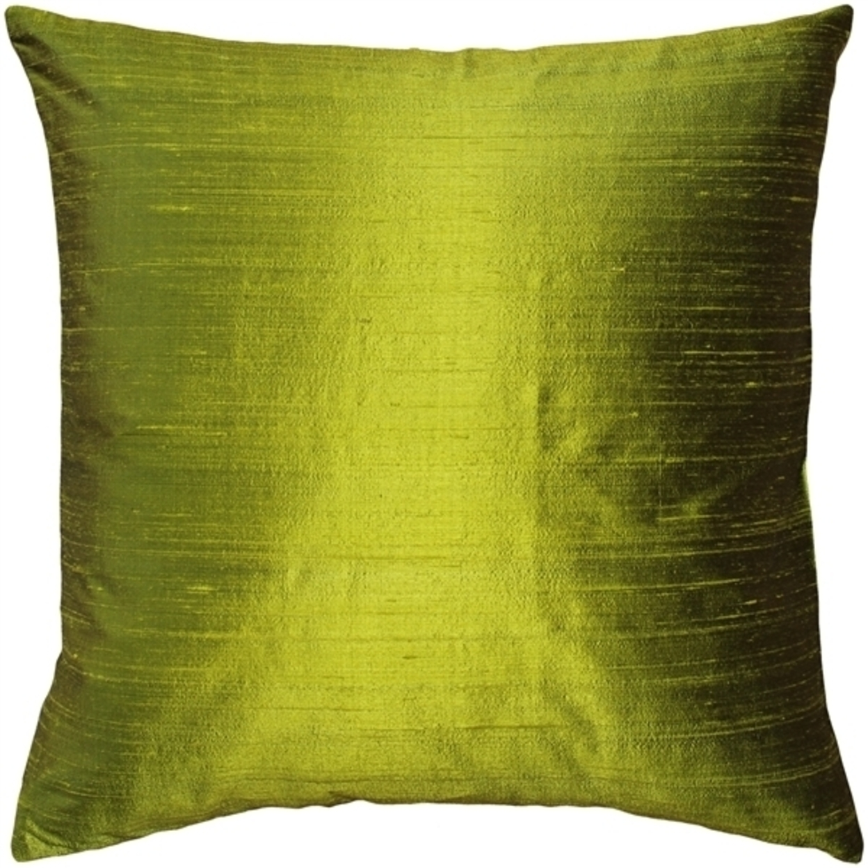 Pillow Decor Sankara Chartreuse Green Silk Throw Pillow 18x18