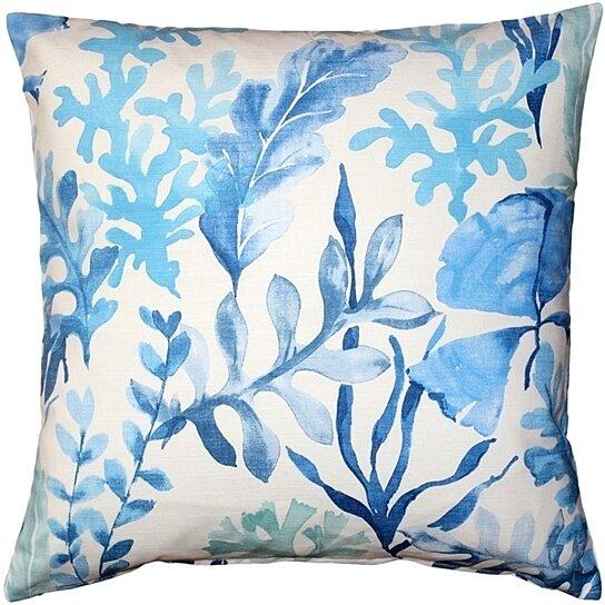 Blue Throw Pillow 20x20 : Buy Pillow Decor - Sea Garden Blue Throw Pillow 20X20 by Pillow Decor on Dot & Bo