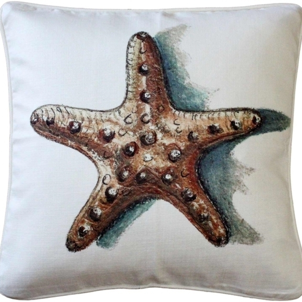 Tracy Effinger - Ponte Vedra Star Fish Throw Pillow 20x20 55b6d0aea2771cde5d8b4a5c