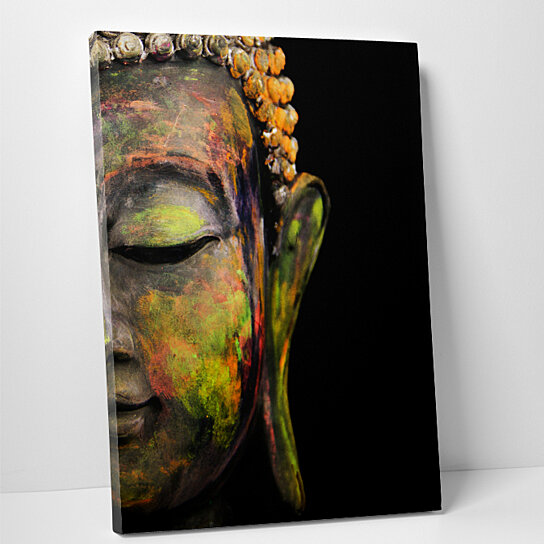 Buy Painted Buddha Pop Art Gallery Wrapped Canvas Wall Art by ...
