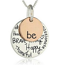 "Two-Tone ""Be"" Inspired Charm Necklace - FREE SHIPPING"