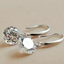 Classic Sterling Silver Swarovski Elements Earrings - FREE SHIPPING