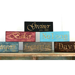 Personalized Engraved Family Established Signs