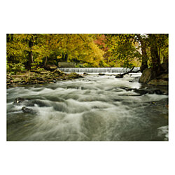 Hoopes Falls in the Autumn Rural Landscape Photo Wall Art Print (Unframed)