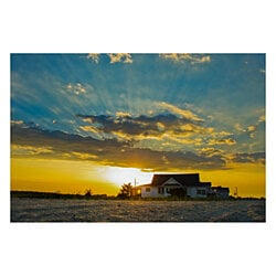 Sunset at Bowers Coastal Landscape Photography Wall Art Print (Unframed)