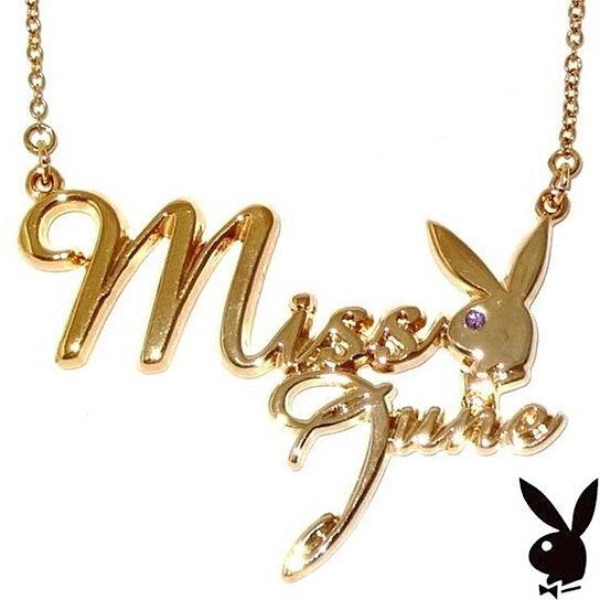 Buy playboy necklace miss june bunny logo pendant gold plated buy playboy necklace miss june bunny logo pendant gold plated playmate of the month by playboy jewelry at karens treasures on opensky aloadofball Image collections