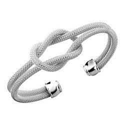 Silver Cuff Bracelets, Bangle Bracelets with Designer Inspired Jewelry Infinity Knot Bracelet