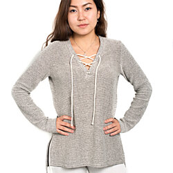 Contemporary women's  v neck sweater