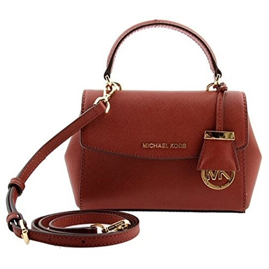 f33ec50977bad Buy MICHAEL KORS Ava Extra-Small Brick Saffiano Leather Crossbody Handag by  Digitalprints on OpenSky