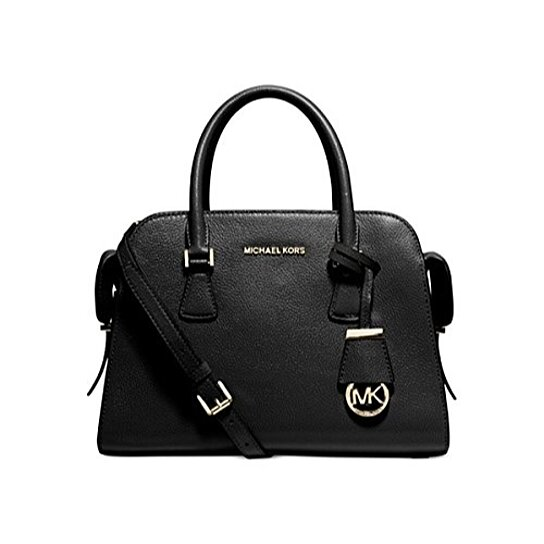 acc6221af55252 Trending product! This item has been added to cart 30 times in the last 24  hours. MICHAEL KORS Cynthia Pearl Grey Small North/South Satchel Handbag