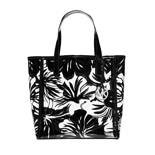 b2e5ad001b0d Trending product! This item has been added to cart 58 times in the last 24  hours. MICHAEL KORS Eliza Black/White Large Print Tote