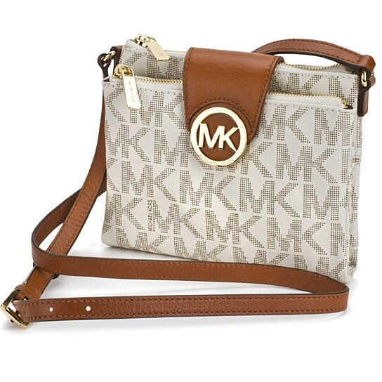 171e87c436dd Trending product! This item has been added to cart 62 times in the last 24  hours. MICHAEL KORS Fulton Large Vanilla Signature Crossbody Handbag