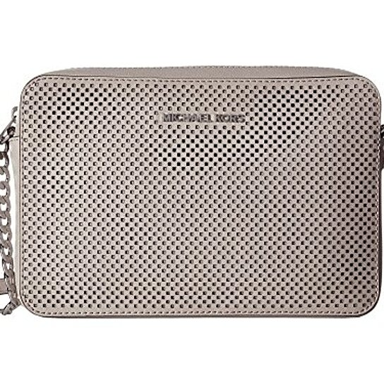 0423d11424c3 Buy MICHAEL KORS Jet Set Travel Large East West Perforated Crossbody -  Cement by Digitalprints on OpenSky