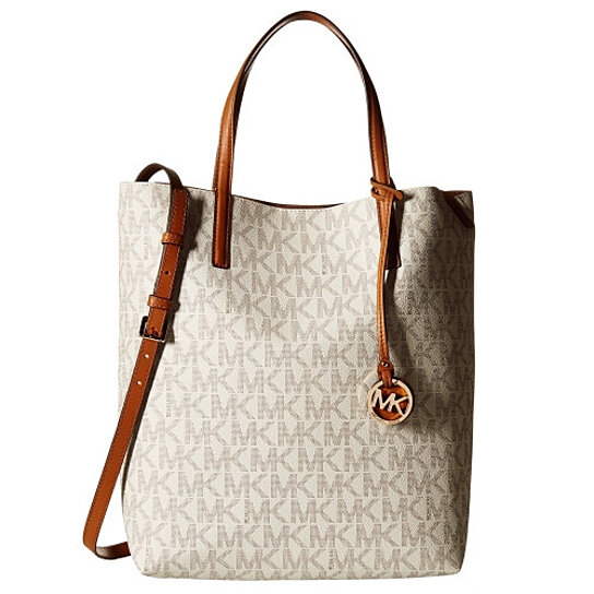 38169476774b Buy MICHAEL KORS Large Hayley Convertible Signature Leather Shoulder Tote  Bag by Digitalprints on OpenSky