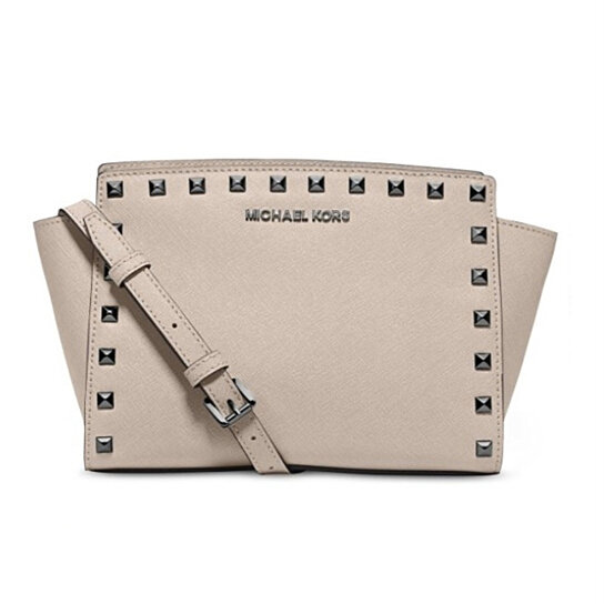 7df91ef314b6 Trending product! This item has been added to cart 67 times in the last 24  hours. MICHAEL KORS Selma Medium Studded Leather ...