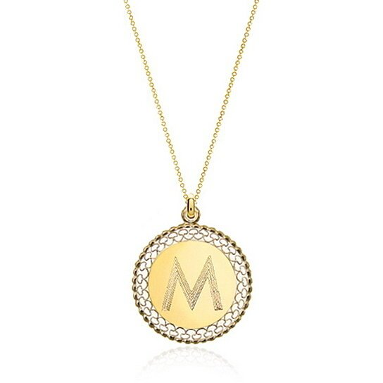 buy gold monogram necklace filigree personalized initial