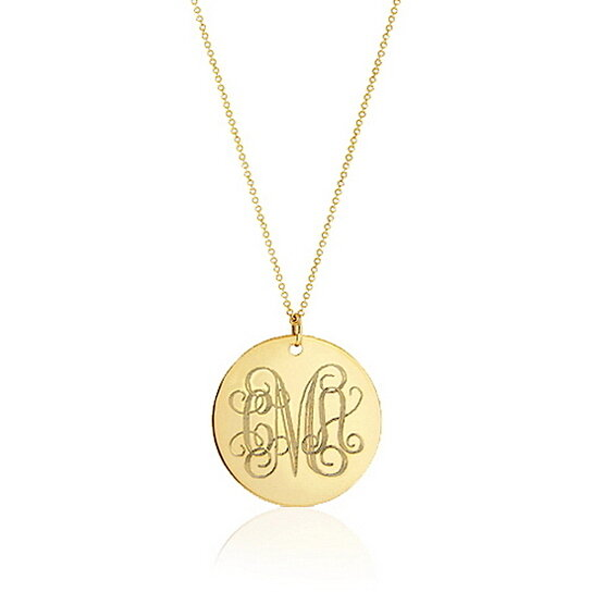 Buy gold monogram necklace initial disc necklace gold filled buy gold monogram necklace initial disc necklace gold filled necklace by urban carats jewelry on opensky mozeypictures Choice Image