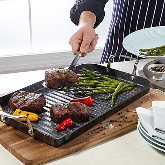 Buy Curtis Stone Durapan Nonstick Double Burner Grill Pan